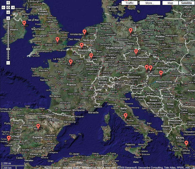 Google Map Europe images