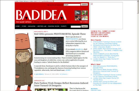 Bad idea magazine